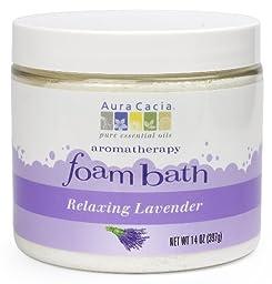 Aura Cacia Aromatherapy Foam Bath, Relaxing Lavender, 14 ounce jar