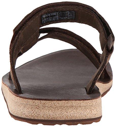 Teva M Universal Slide Leather, Scarpe da Atletica Leggera Uomo Marrone (Brown Brn)