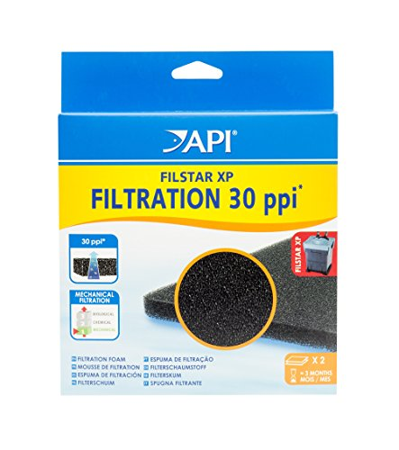 API FILSTAR FILTRATION FOAM Aquarium Canister Filter Filtration Pads 2-Count