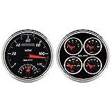 Auto Meter 1204 Designer Black II 5' Tachometer / Speedometer Combo Kit Box