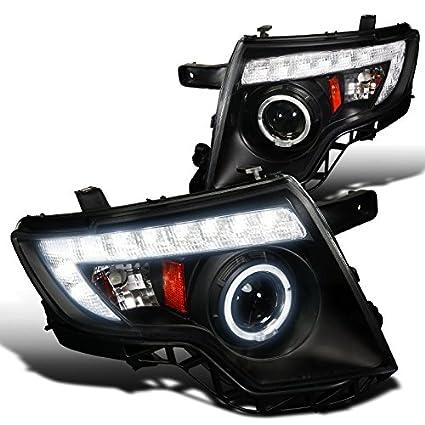 Amazon Com Spec D Tuning Lhp Edgjm Tm Ford Edge Dr Black Projector Head Lights Automotive