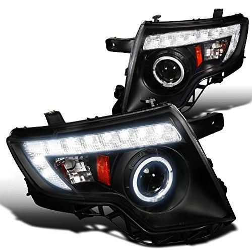 Spec-D Tuning 2LHP-EDG07JM-TM Ford Edge 4Dr Black Projector Head Lights