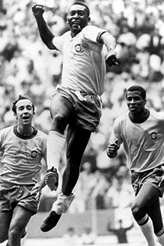 Pele soccer legend scores 1970 World Cup Final Mexico City 18x24 (Mexico 1970 World Cup)