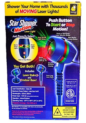 Star shower as seen on tv motion laser lights star projector buy online in uae lawn garden for Star shower projecteur