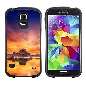 Suave TPU Caso Carcasa de Caucho Funda para Samsung Galaxy S5 SM-G900 / Sunset Beautiful Nature 35 / STRONG