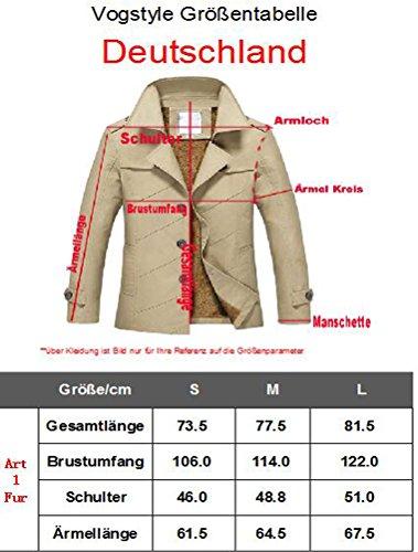Vogstyle Lunga 1 Con Pelliccia Uomo Stile Manica A Cappotto Signori Giacca Ragazzi Trench Borgogna rr8vgq