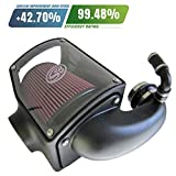 air gap chevy intake - S&B Filters 75-5045M Cold Air Intake for 1992-2000 Chevy/GMC Duramax 6.5L (Cotton Cleanable)