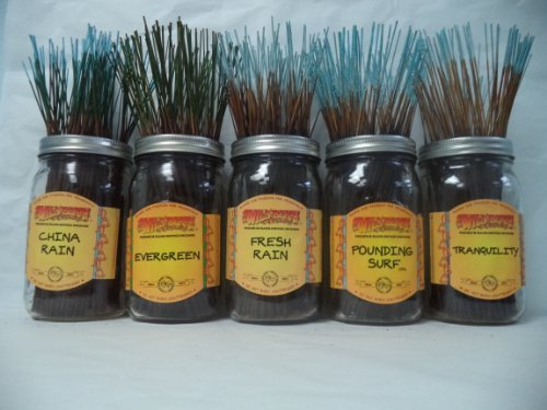 WILDBERRY Incense Sticks Fresh & Clean Scents Set #1: 20 Sticks Each of 5 Scents, Total 100 Sticks!