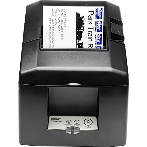 Star Printer Tsp654 Receipt (Star Micronics TSP654IID Serial Thermal Receipt Printer with Auto-cutter and External Power Supply - Gray)