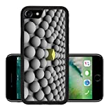 Luxlady Premium Apple iPhone 7 Aluminum Backplate Bumper Snap Case iPhone7 IMAGE ID 287846 spheres surrounding a cube