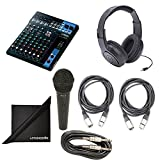 Yamaha MG10 10-Channel Mixing Console Bundle with Vocal Mic, Headphones, XLR Cable, Instrument Cable, and Polishing Cloth For Sale