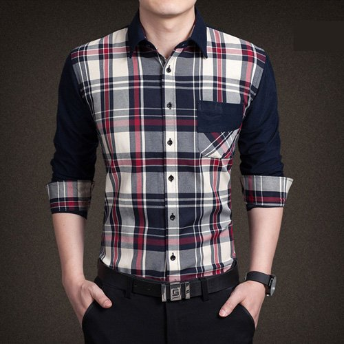 8beb3a88eb0 2017 Spring Autumn Men S Casual Long Sleeve Shirt Slim Fitness Solid Oxford  Shirt Men 5 Colors Plus Size M-4Xl Chemise Homme  Amazon.in  Clothing   ...
