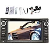 Pupug In Dash Car GPS Navigation Head Unit for Universal Toyota 6.2 Inch Double Din Car DVD Player Stereo Radio Video Touch Screen TV+SD Map Ready