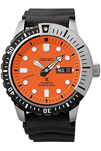 Seiko Prospex SRP589 K1 Black Orange 200m Automatic Men's Divers Watch