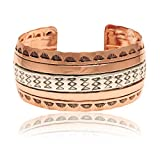 $350 Retail Tag Pure Copper Silver Certified Authentic Navajo Native American Handmade Cuff Bracelet