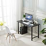 Homemark Office Desktop Laptop Computer Desk I-Shaped Gaming Writing Study Table Workstation, Wood & Metal