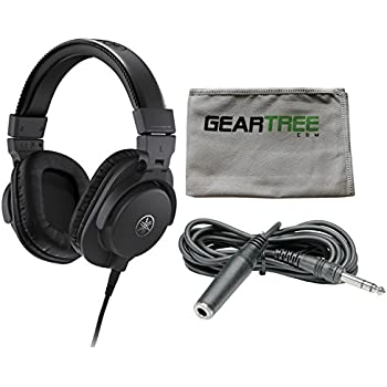 yamaha hph mt5 headphones black w cleaning cloth and extension cable home audio. Black Bedroom Furniture Sets. Home Design Ideas