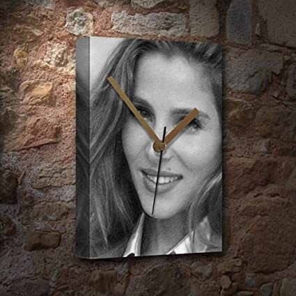 ELSA PATAKY - Canvas Clock (A4 - Signed by the Artist) #js001