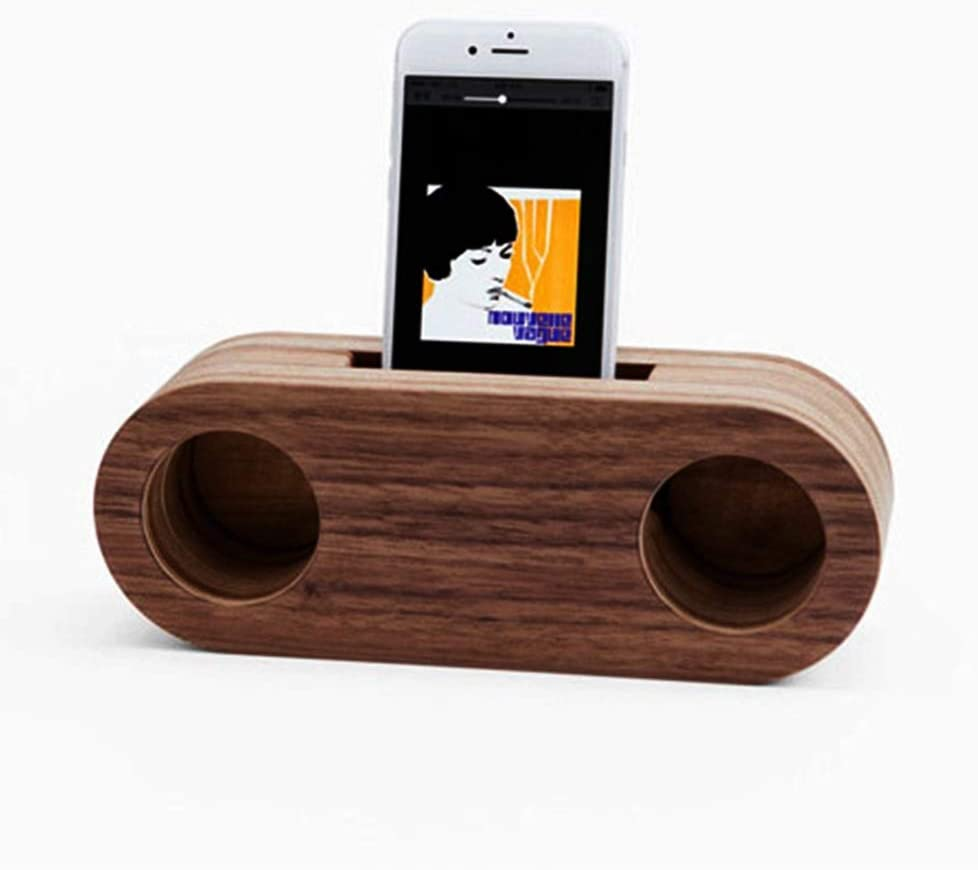 Handmade Wooden Sound Amplifier//Cell Phone Stand//Holder//Dock Carved from Authentic Oak; for iPhone LG Samsung