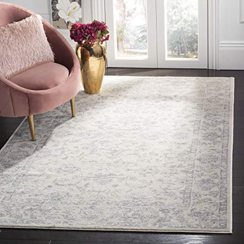 Safavieh Carnegie Collection CNG631C Vintage Cream and Light Grey Distressed Area Rug (5'1