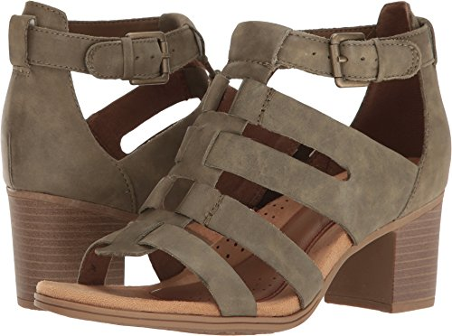 Rockport Leather Clogs - Rockport Women's Hattie Gladiator Sandal, Green, 7.5 M US