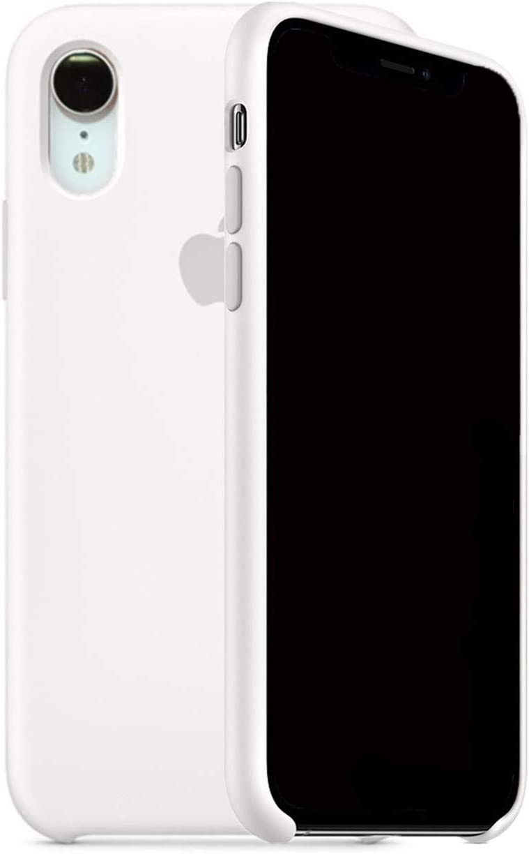 ForH&U Silicone Case Compatible for iPhone XR, Liquid Silicone Non-Slip Case Compatible with iPhone XR-6.1 inch (White)