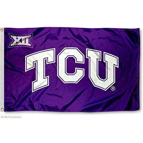 Texas Christian Horned Frogs Big 12 College Flag