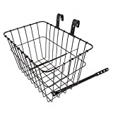Wald 135 Front Grocery Bicycle Basket, 14.5 x 9.5 x 9, Black