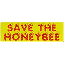 """Save The Honey Bee - Bumper Sticker / Decal (9"""" X 2.5"""")"""