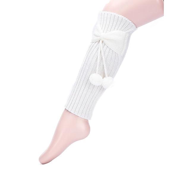 Calcetines Algodon Ysabel Mora Calcetines Nina Calcetines Para Niñas Rodilla Tubo Recto Bowknot Puffer Ball Medias Set: Amazon.es: Ropa y accesorios