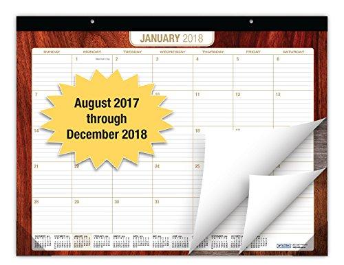 """Desk Calendar 2018 - 22""""x17"""" - (Runs from NOW through December 31, 2018) (Wood Patterns -1 Pack)"""
