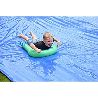BACKYARD BLAST - 75' X 12' Heavy Duty Waterslide - Includes 2 Riders, Sprinkler, Carrying Bag - Extra Thick to Prevent Tears & Rips - Easy to Assemble