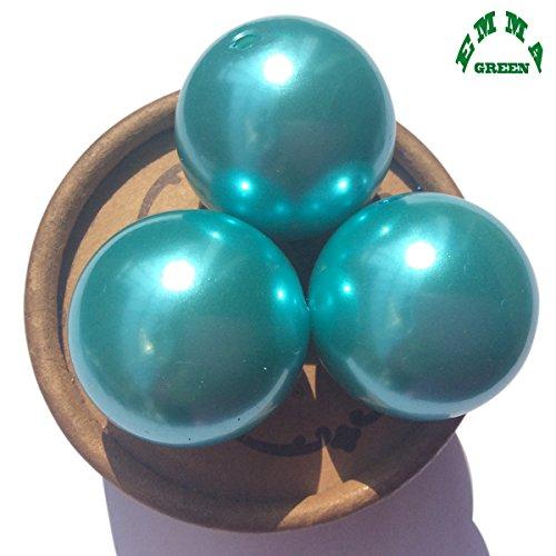 30mm 10pcs Big Jumbo Turquoise Blue Faux Imitation Round Loose Pearl Smooth Round Craft - Imitation Beads Turquoise