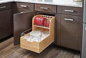 Rev-A-Shelf 4FSCO-18SC-1 Food Storage Container Organizer, Natural