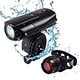 Cheap LEDGLE LED Bike Lights Set Bicycle Cycling Headlight, 2000mAh Battery USB Rechargeable, 1200lm, 3 Light Modes, Touch Control, Tail Light Mount Accessories Included