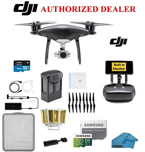 DJI Phantom 4 PRO Obsidian Quadcopter Drone with 1-inch 20MP 4K Camera KIT, with Must Have Accessories and Range Extender