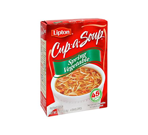Lipton Cup-A-Soup Spring Vegetable Soup - 4 Packets (Vegetable Spring Soup)