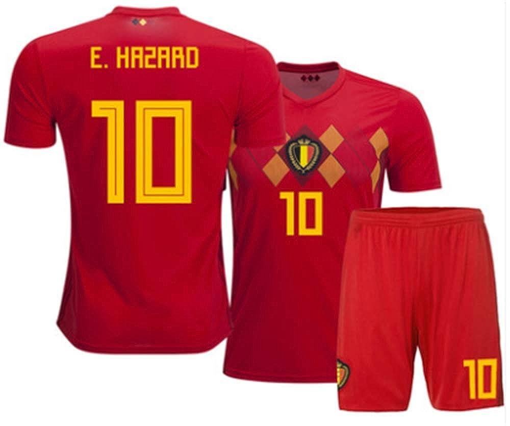 best sneakers 04d3d a8185 Amazon.com: LISIMKE Eden Hazard Belgium 2018 Home Jersey ...