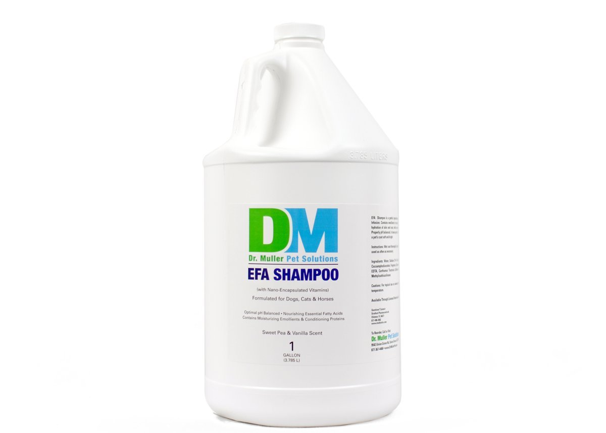 Dr. Muller EFA Shampoo for Dogs, Cats, and Horses, 1 gallon