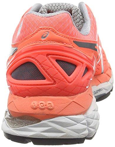 ASICS - Gel-kayano 22, Zapatillas de Running mujer Naranja (Flash Coral/Carbon/Silver Grey)