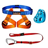 Fusion Climb Kids Backyard Zip Line Kit Harness Lanyard Trolley Bundle FK-K-HLT-01