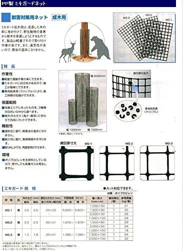 トリカルネット プラスチックネット CLV-MS-3-1000 黒 大きさ:幅1000mm×長さ18m B00UUYBB54 18) 大きさ:巾1000mm×長さ18m 切り売り