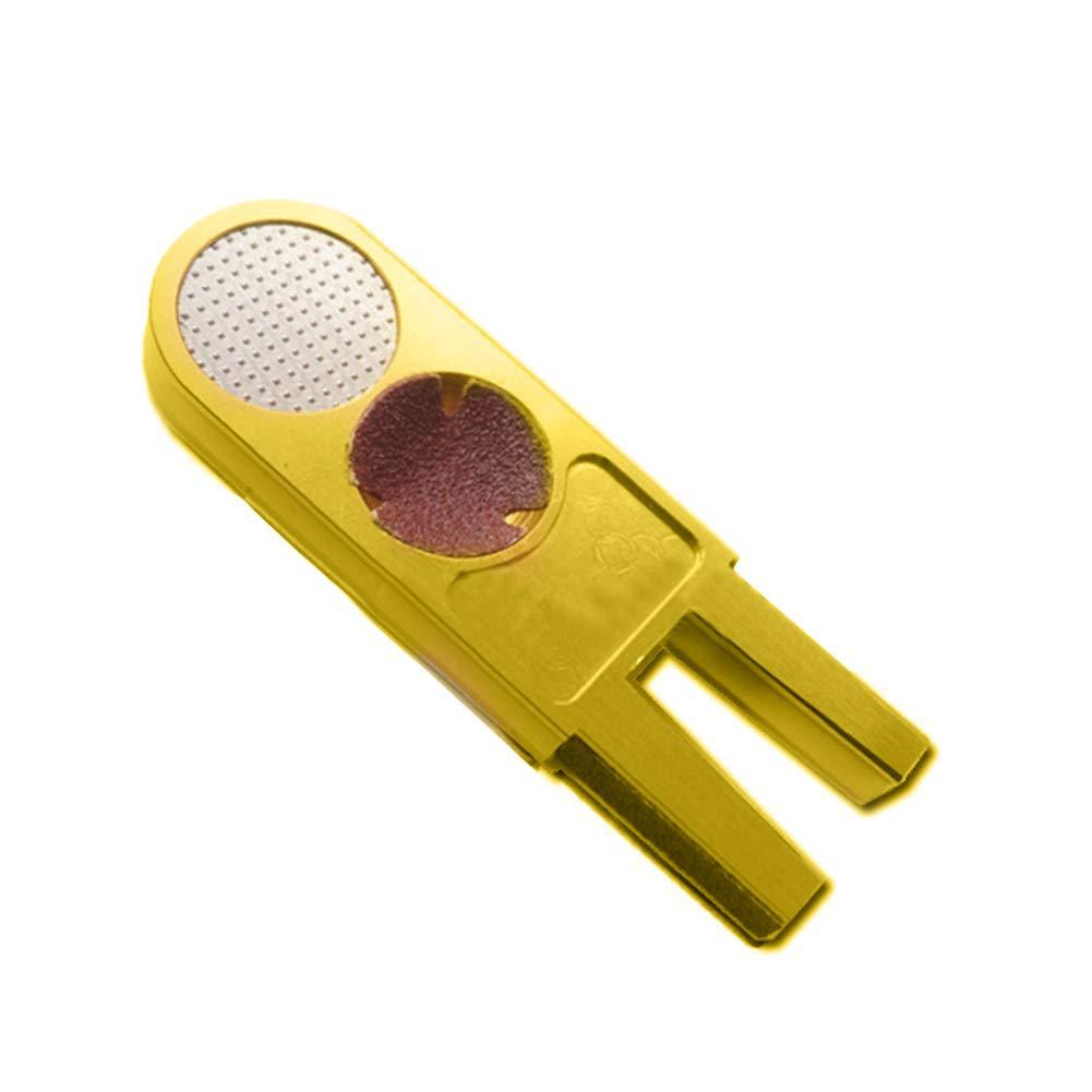 Austinstore U Shape Snooker Billiard Cue Tip Repair Shaper Trimmer Head Grinders Multi-function Tool Golden