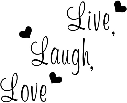 Creatiee Live Laugh Love Quote Wall Decal Sticker, Removable DIY Vinyl Wall  Decor Art Mural for Thanksgiving Kitchen Table Home Décor - Embellishment  ...