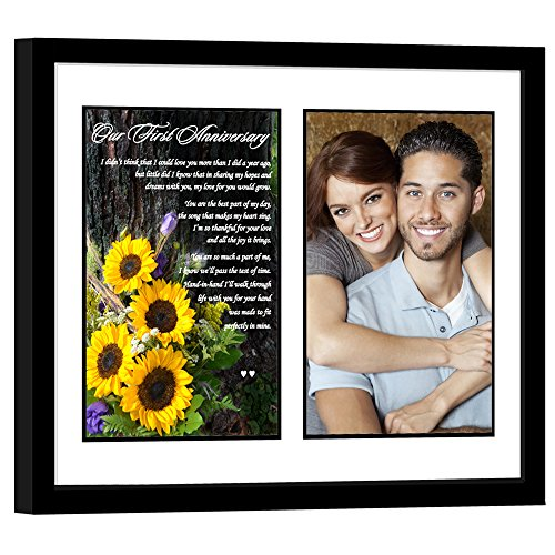 Paper First Anniversary Gift for Wife or Husband, Romantic 1st Poem - Add Photo