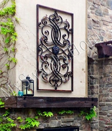Extra Large 61 Quot Wall Art Iron Scroll Oversize Indoor Or