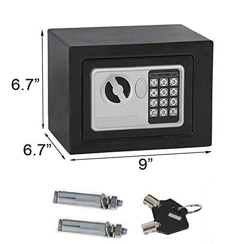 BBBuy Electronic Digital Security Safe Box Keypad Lock, Home Office Hotel Business Jewlery Gun Cash Use Mini Cabinet Storage