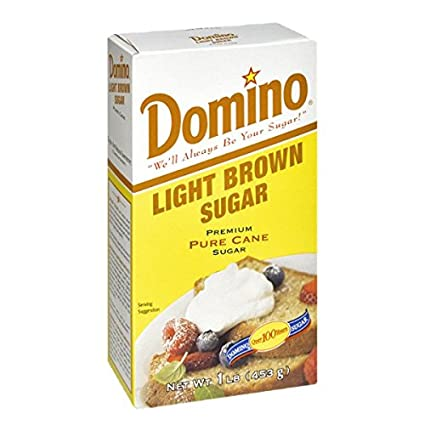 Domino Premium Pure Cane Light Brown Sugar, 1 lb