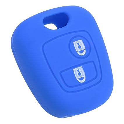 Holdream - Carcasa para Llave de Coche para Citroen Xsara (Silicona), Color Azul