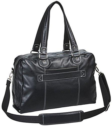 Clark & Mayfield Morrison Leather Laptop Handbag 18.4'' (Black) by Clark & Mayfield (Image #2)